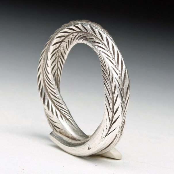 Viking silver ring, ninth to 11th century, found in U.K. Artemis Gallery image