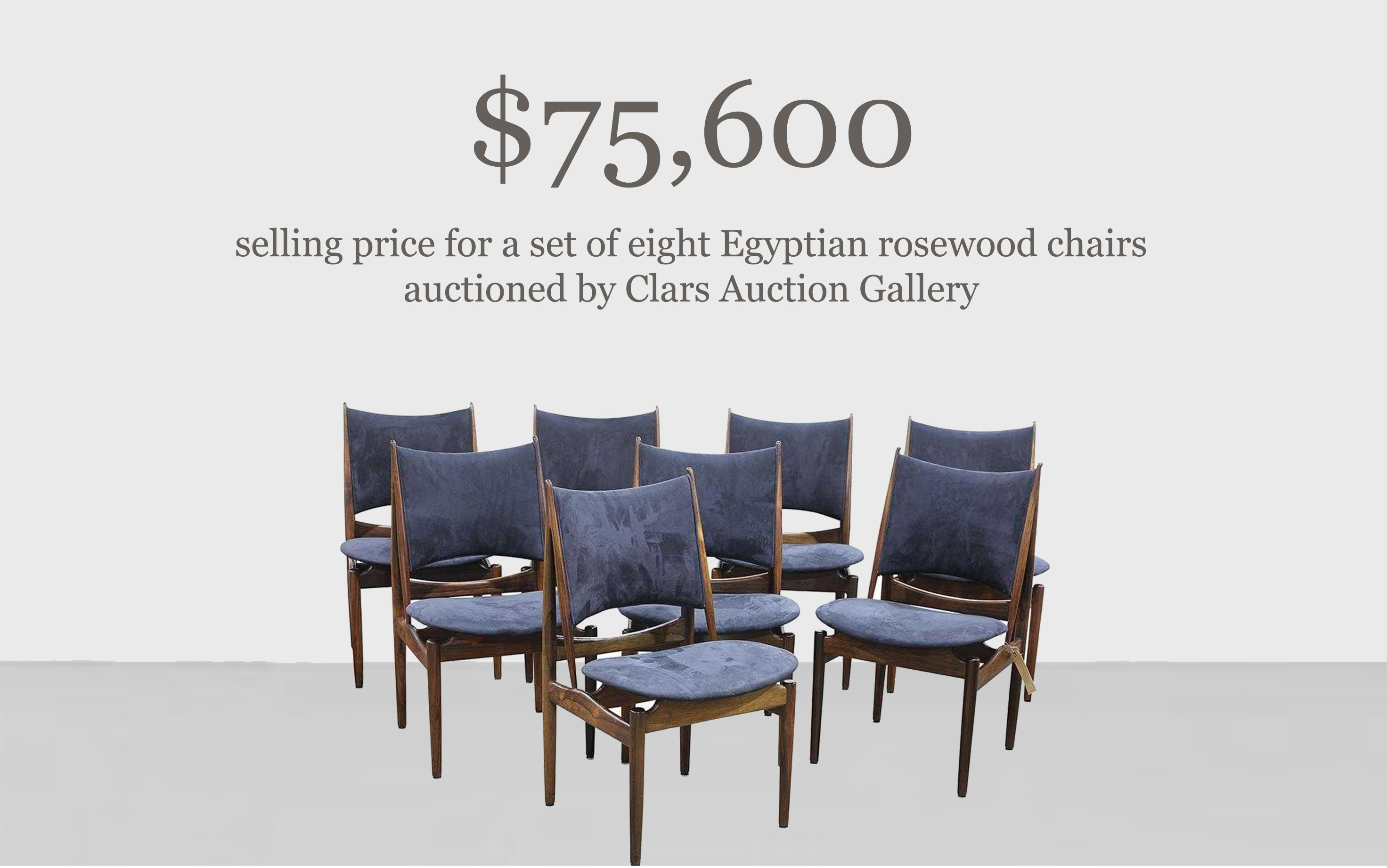 Egyptian rosewood chairs