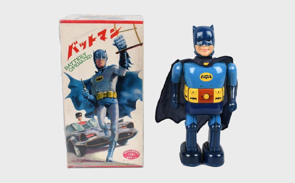 TN Battery Op BATMAN WALKING TOY Mint in Box